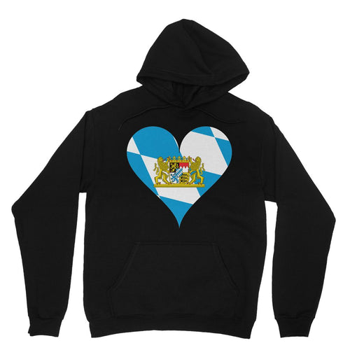 Bavaria Heart Flag Heavy Blend Hooded Sweatshirt Apparel Flagdesignproducts.com