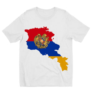 Armenia Continent Flag Kids Sublimation T-Shirt Apparel Flagdesignproducts.com