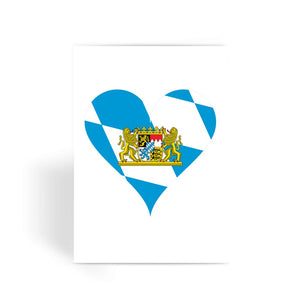 Bavaria Heart Flag Greeting Card Prints Flagdesignproducts.com