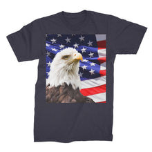 American Eagle And Usa Flag Unisex Fine Jersey T-Shirt Apparel Flagdesignproducts.com