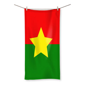 Flag Of Burkina Faso Beach Towel Homeware Flagdesignproducts.com