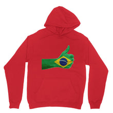 Brazil Hand Flag Heavy Blend Hooded Sweatshirt Apparel Flagdesignproducts.com