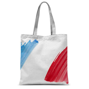Watercolor France Flag Sublimation Tote Bag Accessories Flagdesignproducts.com