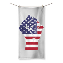America First Hand Flag Beach Towel Homeware Flagdesignproducts.com