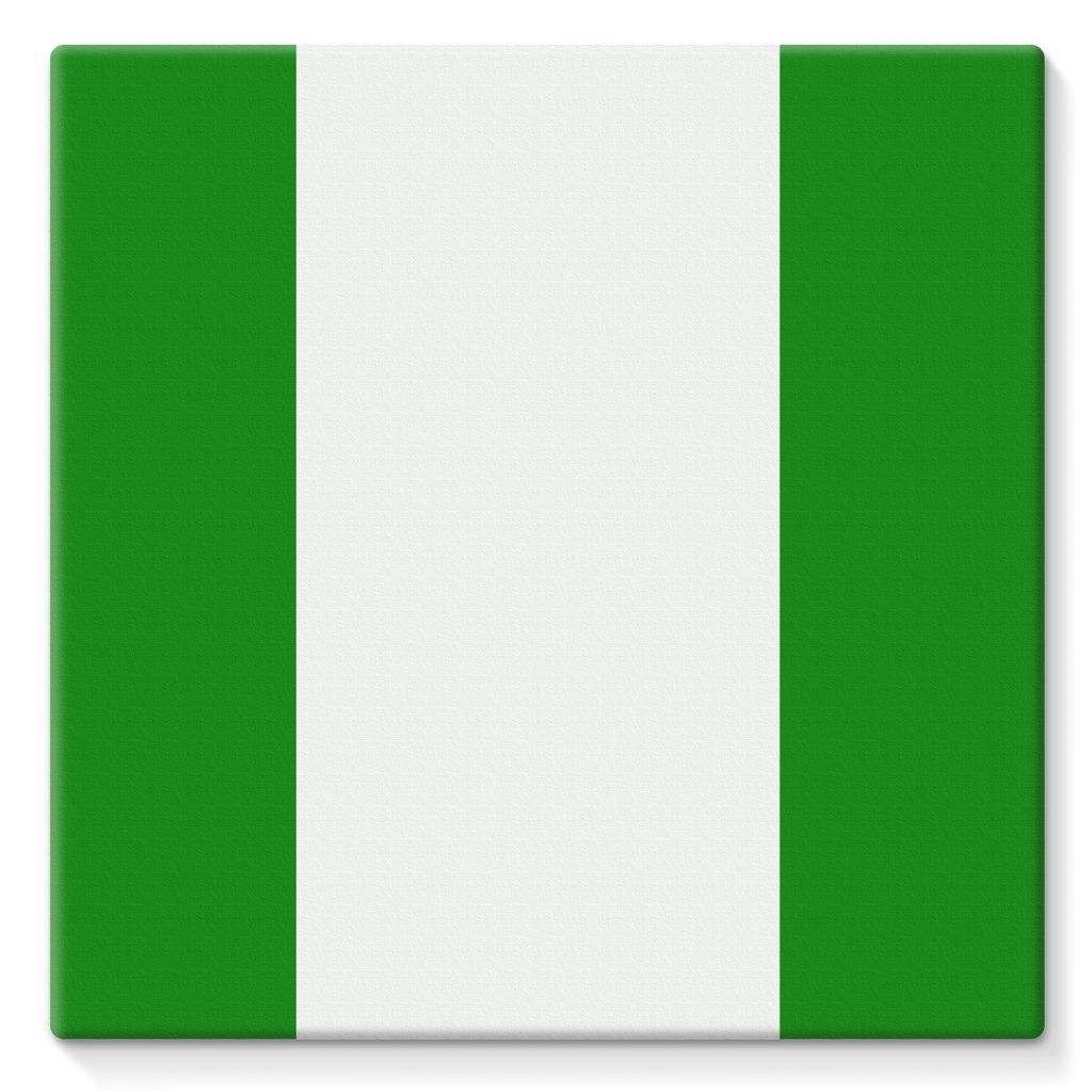 Flag Of Nigeria Stretched Eco-Canvas Wall Decor Flagdesignproducts.com