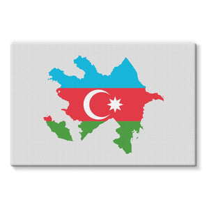Azerbaijan Continent Flag Stretched Eco-Canvas Wall Decor Flagdesignproducts.com