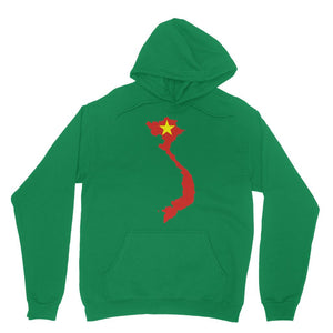 Vietnam Continent Flag Heavy Blend Hooded Sweatshirt Apparel Flagdesignproducts.com