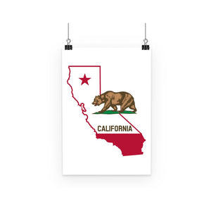 California State Flag Poster Wall Decor Flagdesignproducts.com