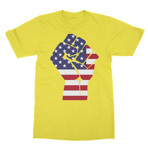 America First Hand Flag Softstyle Ringspun T-Shirt Apparel Flagdesignproducts.com