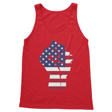 America First Hand Flag Softstyle Tank Top Apparel Flagdesignproducts.com