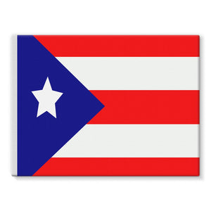 Flag Of Puerto Rico Stretched Eco-Canvas Wall Decor Flagdesignproducts.com