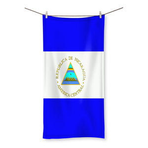 Flag Of Nicaragua Beach Towel Homeware Flagdesignproducts.com