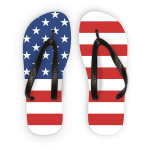 Basic America Flag Flip Flops Accessories Flagdesignproducts.com