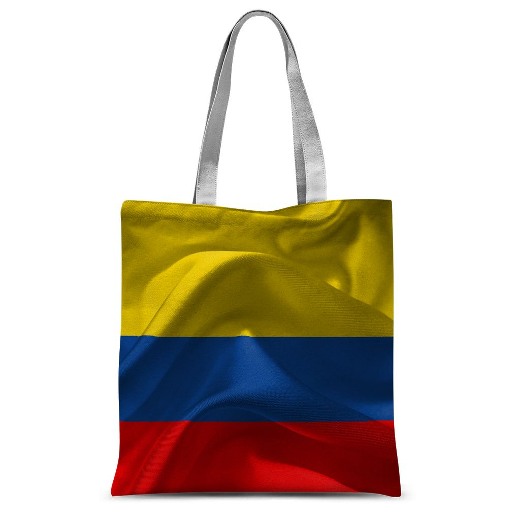 Waving Fabric Colombia Flag Sublimation Tote Bag Accessories Flagdesignproducts.com