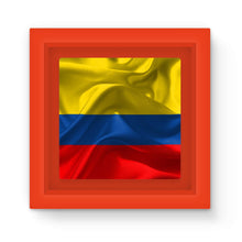 Waving Fabric Colombia Flag Magnet Frame Homeware Flagdesignproducts.com