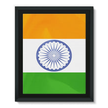 Waving Flag Of India Framed Eco-Canvas Wall Decor Flagdesignproducts.com