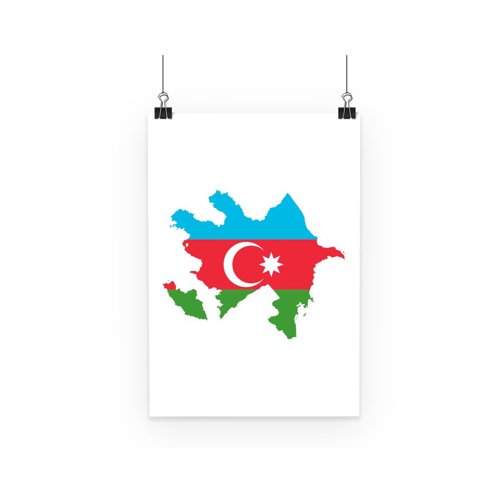 Azerbaijan Continent Flag Poster Wall Decor Flagdesignproducts.com