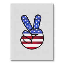 America Fingers Flag Stretched Eco-Canvas Wall Decor Flagdesignproducts.com