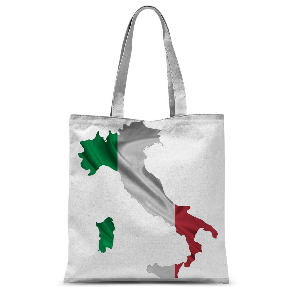Waving Italy Continent Flag Sublimation Tote Bag Accessories Flagdesignproducts.com