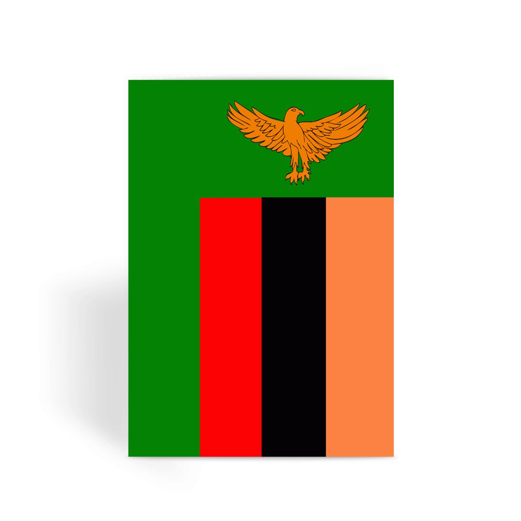 Flag Of Zambia Greeting Card Prints Flagdesignproducts.com