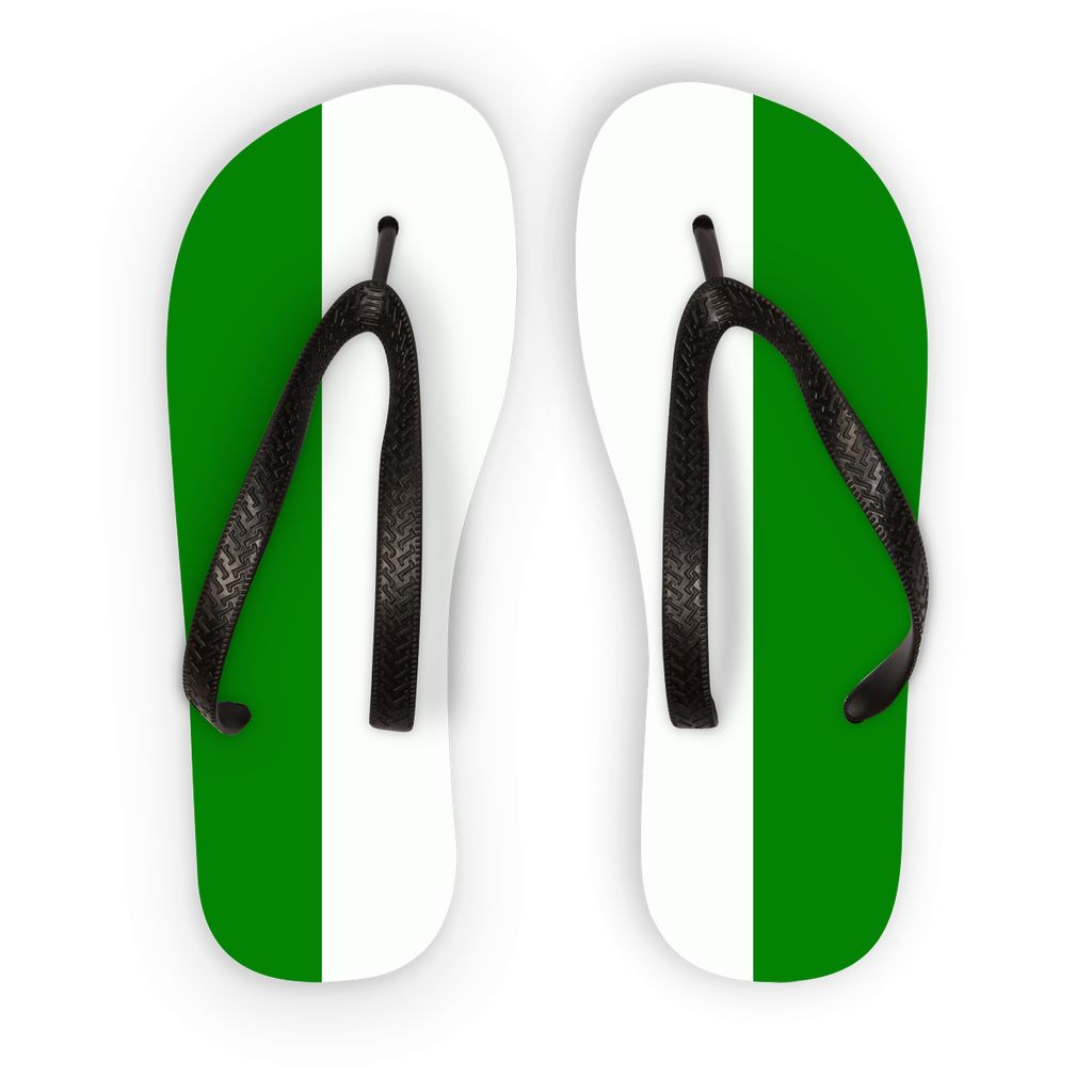 Flag Of Nigeria Flip Flops Accessories Flagdesignproducts.com