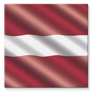 Waving Latvia Flag Stretched Canvas Wall Decor Flagdesignproducts.com