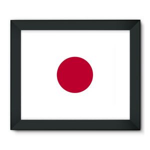 Basic Japan Flag Framed Fine Art Print Wall Decor Flagdesignproducts.com