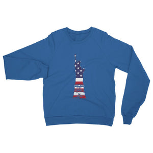 Usa Flag State Of Liberty Heavy Blend Crew Neck Sweatshirt Apparel Flagdesignproducts.com