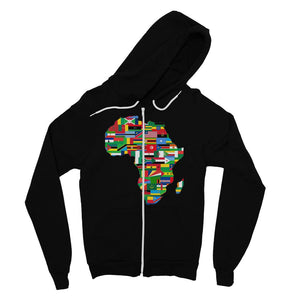 Africa Countries Flag Fine Jersey Zip Hoodie Apparel Flagdesignproducts.com
