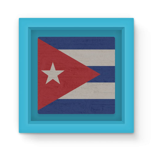 Cuba Stone Wall Flag Magnet Frame Homeware Flagdesignproducts.com
