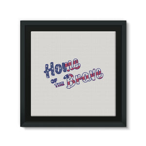 Home Of The Brave Usa Flag Framed Canvas Wall Decor Flagdesignproducts.com