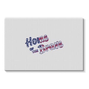 Home Of The Brave Usa Flag Stretched Eco-Canvas Wall Decor Flagdesignproducts.com