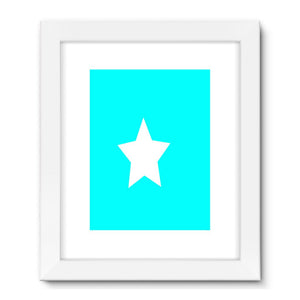 Flag Of Somalia Framed Fine Art Print Wall Decor Flagdesignproducts.com