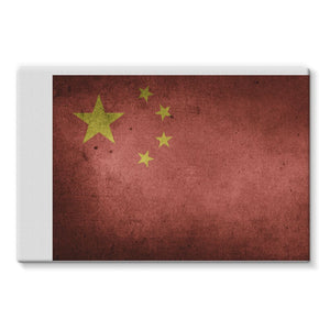 Vintage Grunge China Flag Stretched Canvas Wall Decor Flagdesignproducts.com