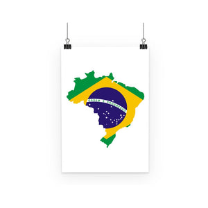 Brazil Continent Flag Poster Wall Decor Flagdesignproducts.com
