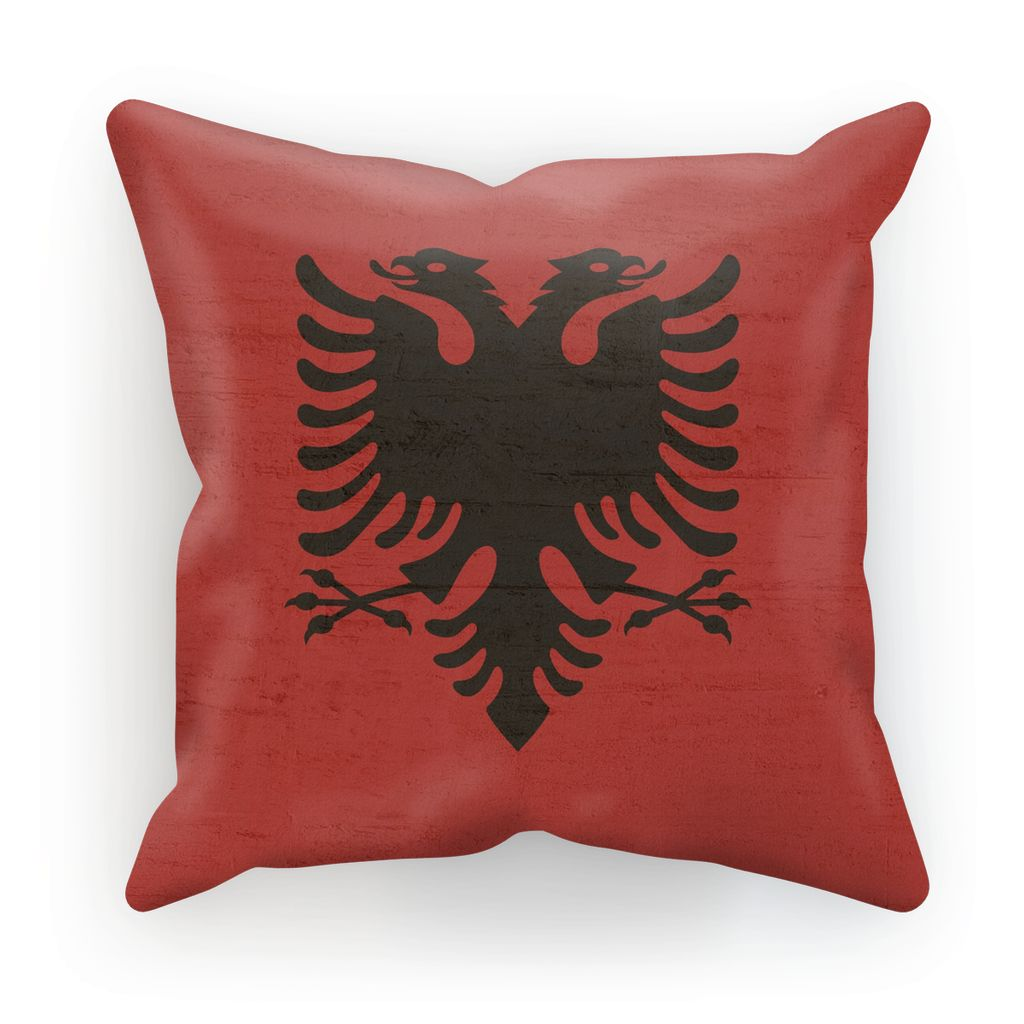 Albania Stone Wall Flag Cushion Homeware Flagdesignproducts.com