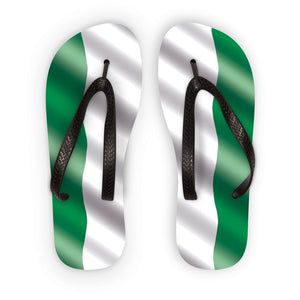 Waving Nigeria Flag Flip Flops Accessories Flagdesignproducts.com