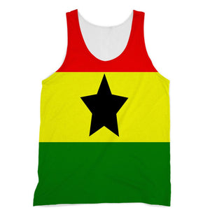 Flag Of Ghana Sublimation Vest Apparel Flagdesignproducts.com