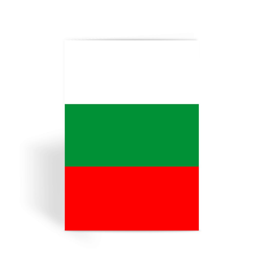 Basic Bulgaria Flag Greeting Card Prints Flagdesignproducts.com