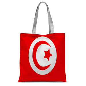 Flag Of Tunisia Sublimation Tote Bag Accessories Flagdesignproducts.com