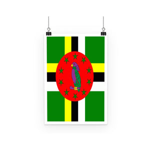 Flag Of Dominica Poster Wall Decor Flagdesignproducts.com