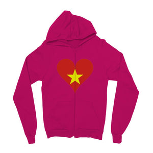 Vietnam Heart Flag Kids Zip Hoodie Apparel Flagdesignproducts.com