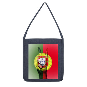 Portugal Fingers Flag Tote Bag Accessories Flagdesignproducts.com