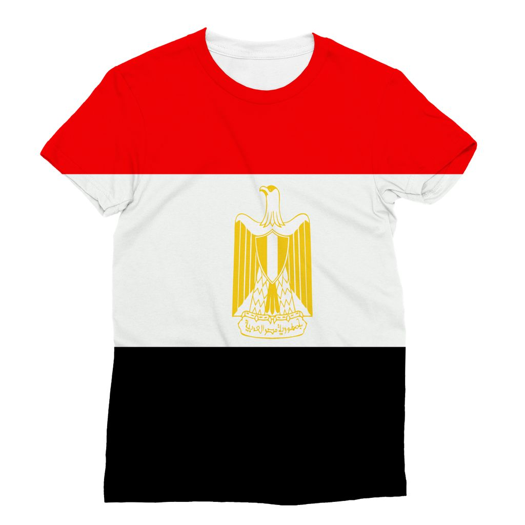 Flag Of Egypt Sublimation T-Shirt Apparel Flagdesignproducts.com