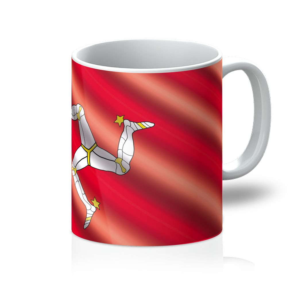 Waving Isle Of Man Flag Mug Homeware Flagdesignproducts.com