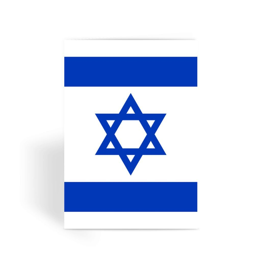 Basic Isreal Flag Greeting Card Prints Flagdesignproducts.com