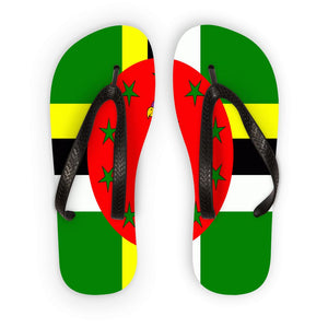 Flag Of Dominica Flip Flops Accessories Flagdesignproducts.com