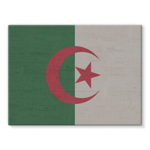 Algeria Stone Wall Flag Stretched Canvas Decor Flagdesignproducts.com