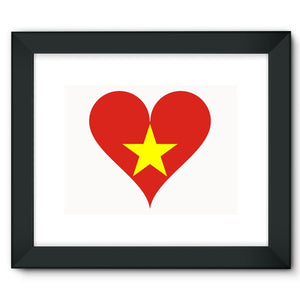 Vietnam Heart Flag Framed Fine Art Print Wall Decor Flagdesignproducts.com