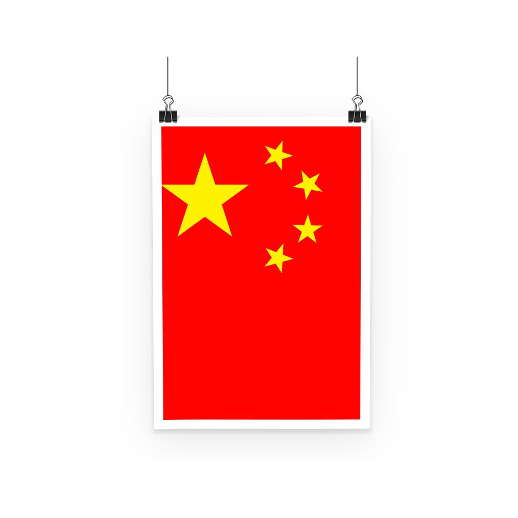 Basic China Flag Poster Wall Decor Flagdesignproducts.com